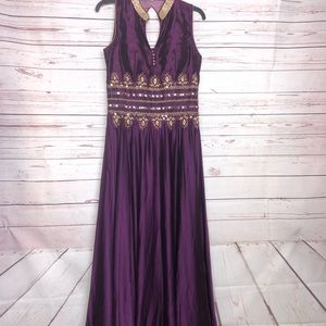 Dresses & Skirts - Stunning Rich Purple Embellished Gown Size M
